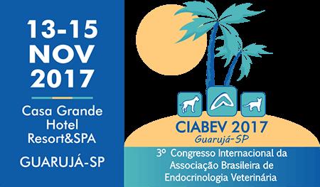 Logo Ciabev Data Congresso internacional associação brasileira endocrinologia veterinária guaruja 2017